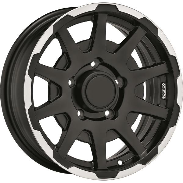 SPARCO DAKAR - 5,5x16 ET0 - 5x139,7 - 108,3 - matt black lip polished