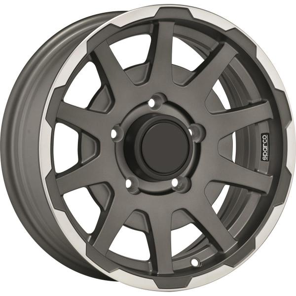 SPARCO DAKAR - 5,5x16 ET5 - 5x139,7 - 108,3 - matt dark grey lip polished