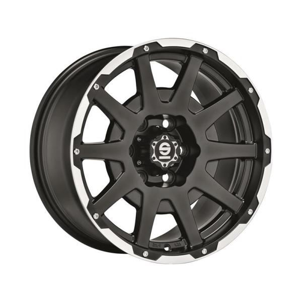 SPARCO DAKAR - 8,5x18 ET27 - Flat - 6x139,7 - 106,1 - matt black lip polished